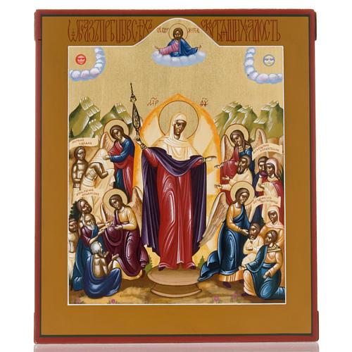 Icona russa dipinta Gioia di tutti gli afflitti 1