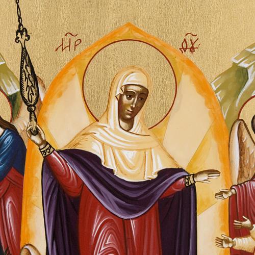 Icona russa dipinta Gioia di tutti gli afflitti 2
