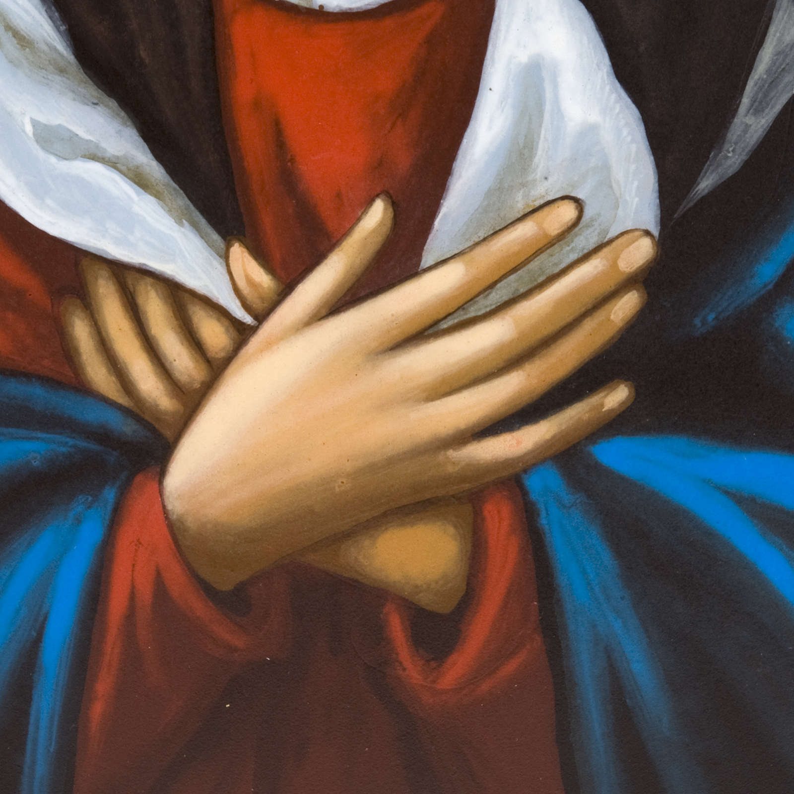 Ícono pintado ruso Virgen Ternura Umilenie 4