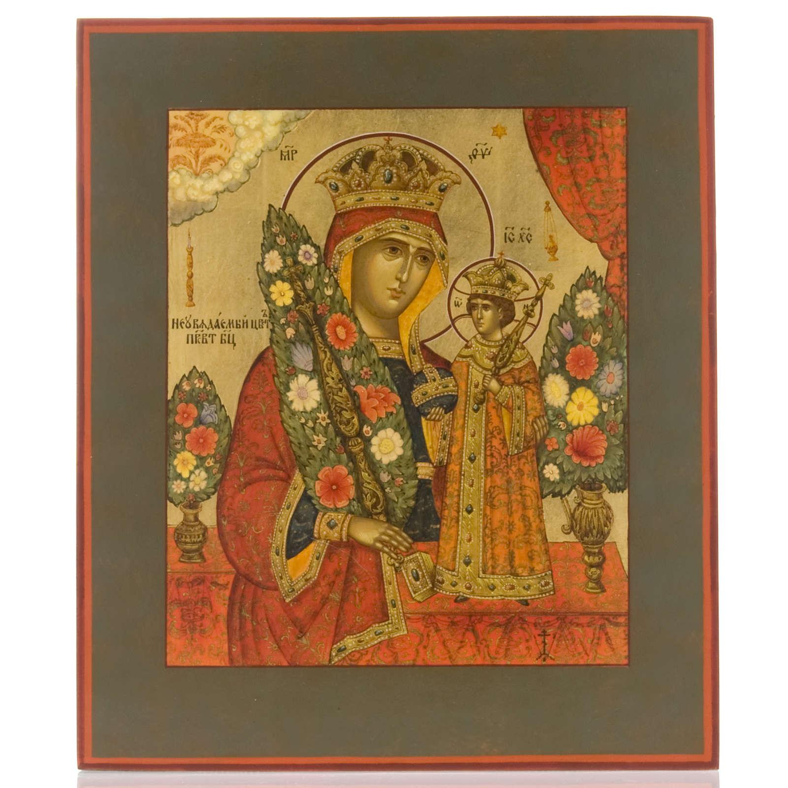 Icona russa Fiore Immarcescibile dipinta a mano 4