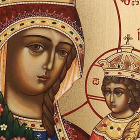 Icona russa Fiore Immarcescibile dipinta a mano s4