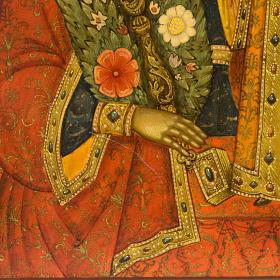 Icona russa Fiore Immarcescibile dipinta a mano s8
