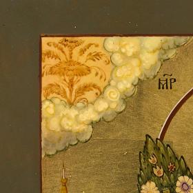Icona russa Fiore Immarcescibile dipinta a mano s10
