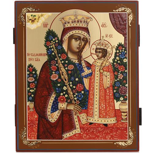Icona russa Fiore Immarcescibile dipinta a mano 2