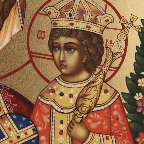 Icona russa Fiore Immarcescibile dipinta a mano 6