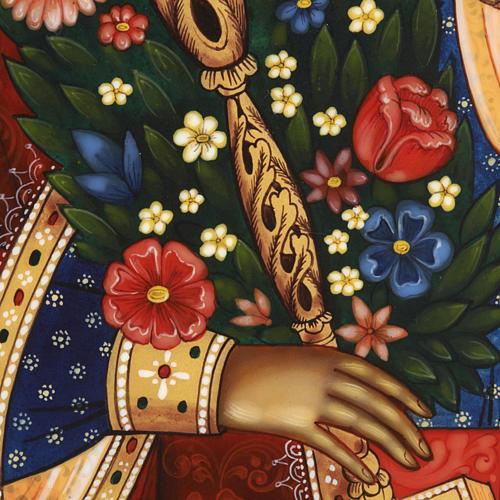 Icona russa Fiore Immarcescibile dipinta a mano 7