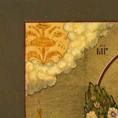 Icona russa Fiore Immarcescibile dipinta a mano 10