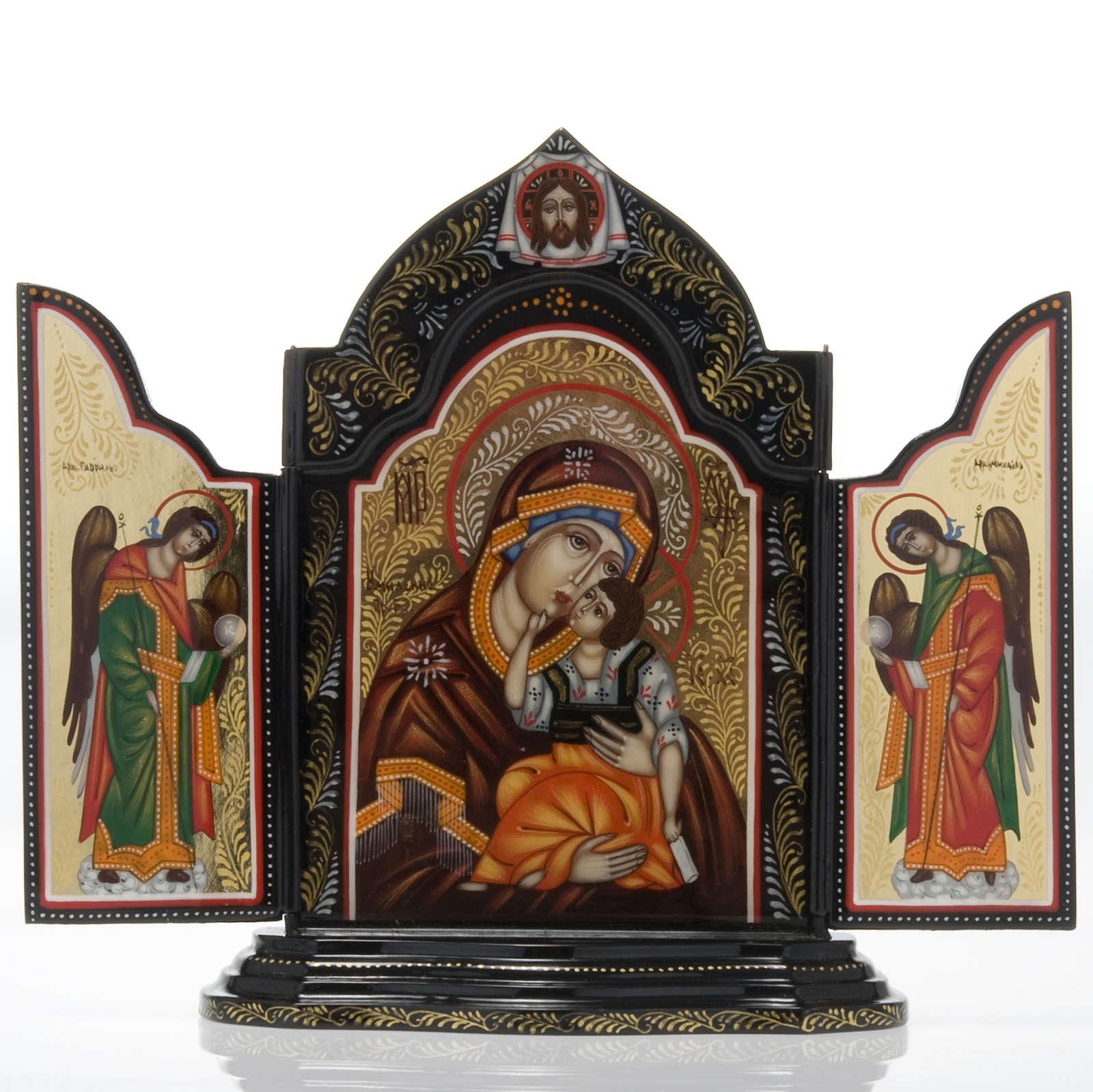 Trittico Russia dipinto 18 x 12 cm 4