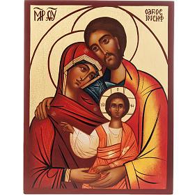 Icona Russa Sacra Famiglia dipinta s1
