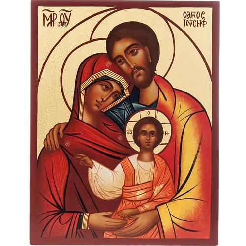 Icona Russa Sacra Famiglia dipinta 1