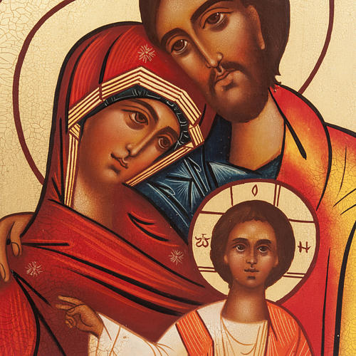 Icona Russa Sacra Famiglia dipinta 2