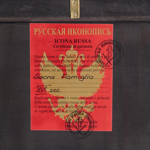 Icona Russa Sacra Famiglia dipinta 3