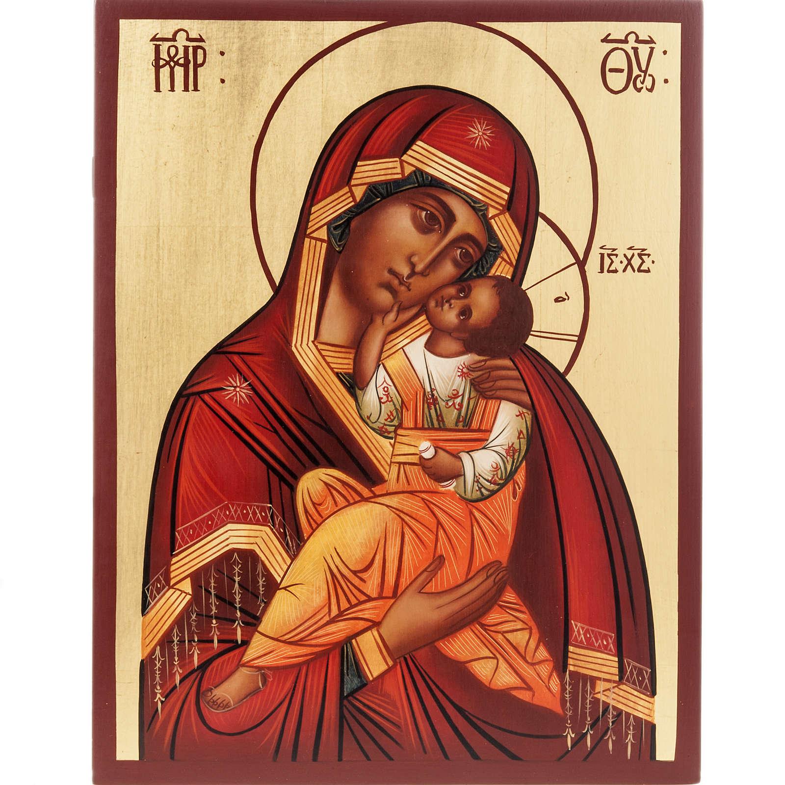 Ícono Ruso Madre de Dios Clemente 28x22 cm 4