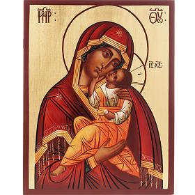 Ícono Ruso Madre de Dios Clemente 28x22 cm s1