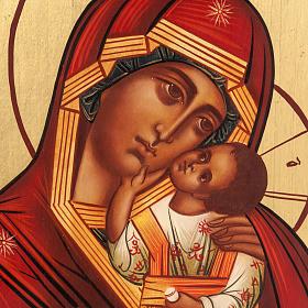 Ícono Ruso Madre de Dios Clemente 28x22 cm s2