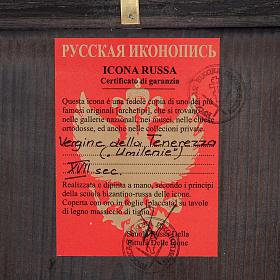 Ícono Ruso Madre de Dios Clemente 28x22 cm s3