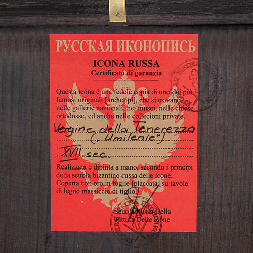 Ícono Ruso Madre de Dios Clemente 28x22 cm 3