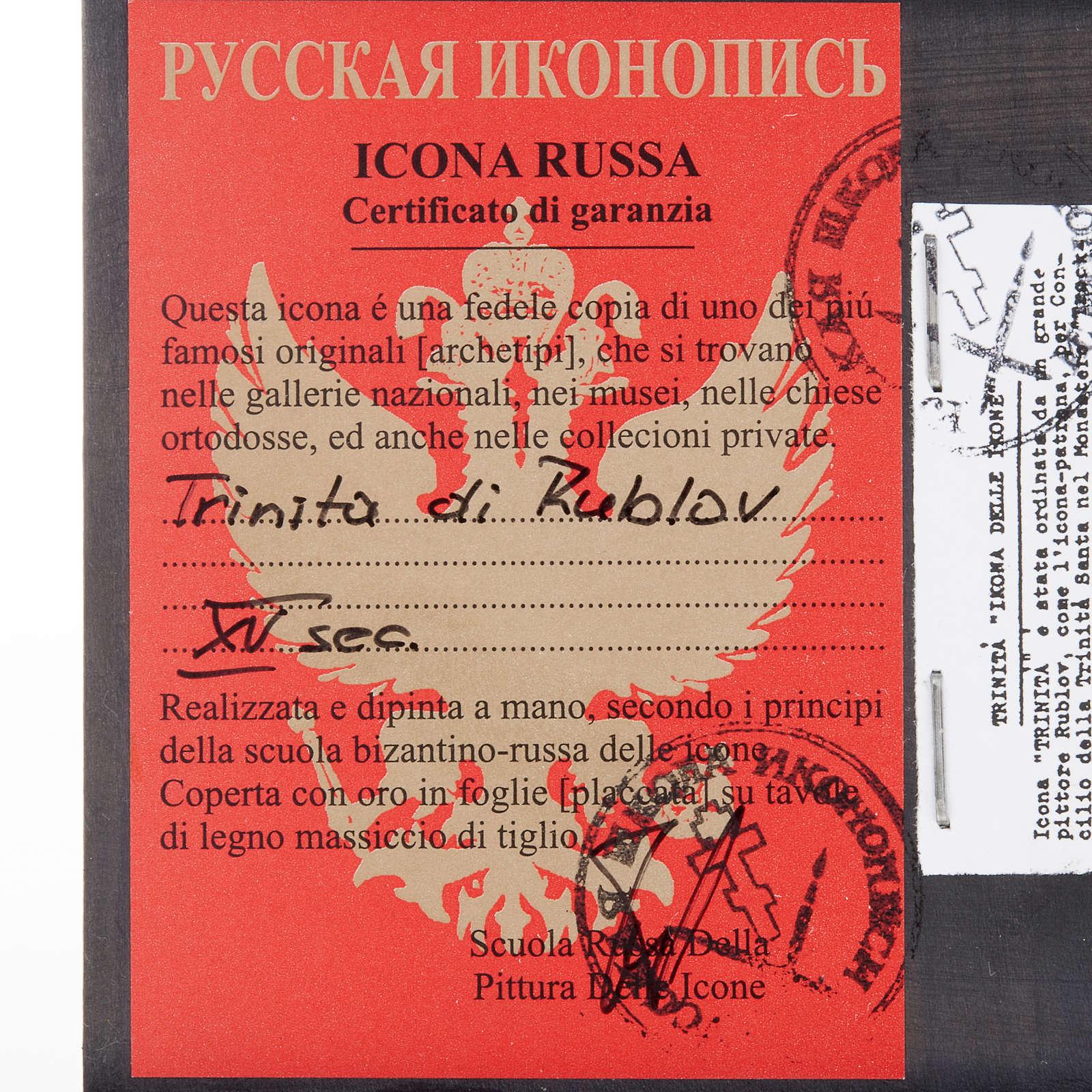 Icona russa Trinità di Rublev 4