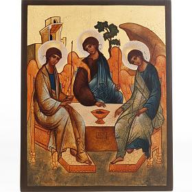 Icona russa Trinità di Rublev s1