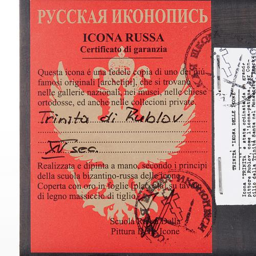 Icona russa Trinità di Rublev 3