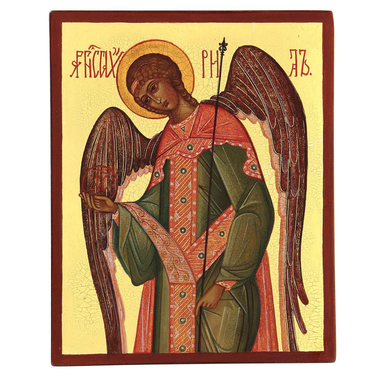 Icône Russe peinte Archange Gabriel 14x10 cm 4