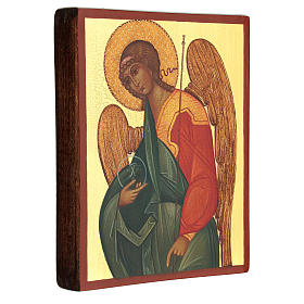 Icona russa dipinta Arcangelo Gabriele 14x10 cm s3