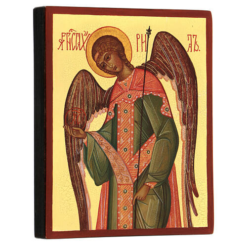 Russian icon Gabriel the Archangel 14x10 cm 3