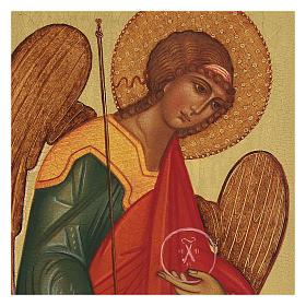 Ícono rusa pintada Arcángel Miguel 14x10 cm s2