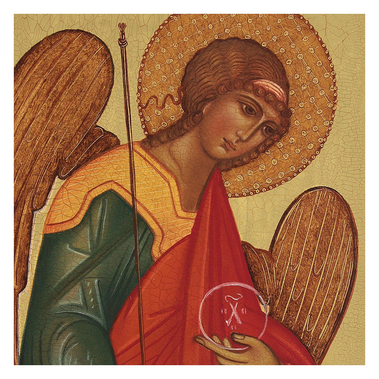 Icône Russe peinte Archange Michel 14x10 cm 4