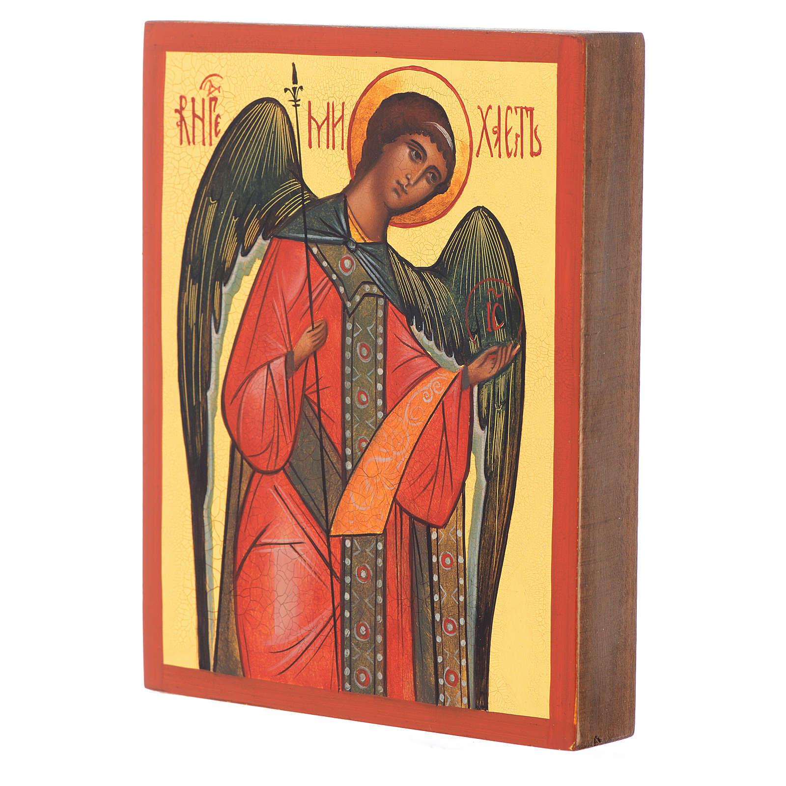 Icona russa dipinta Arcangelo Michele 4