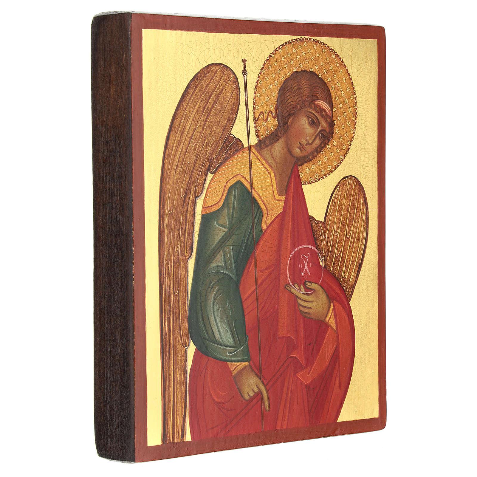Icona russa dipinta Arcangelo Michele 14x10 cm 4