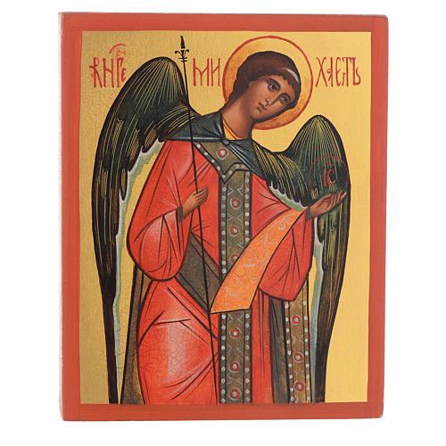 Icona russa dipinta Arcangelo Michele 1