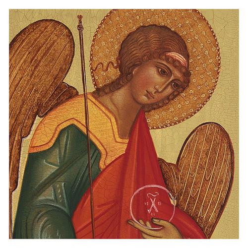 Icona russa dipinta Arcangelo Michele 14x10 cm 2