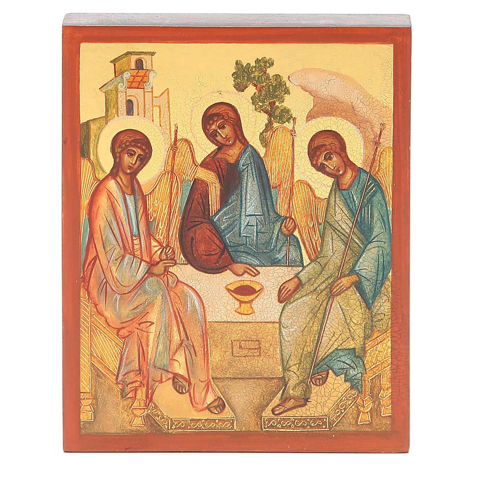 Icona russa dipinta Trinità di Rublev 4