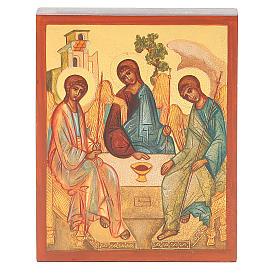 Icona russa dipinta Trinità di Rublev s1