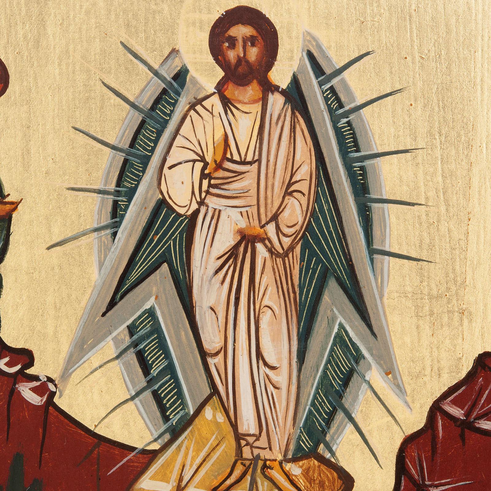 Ícono Ruso pintado Transfiguración 4