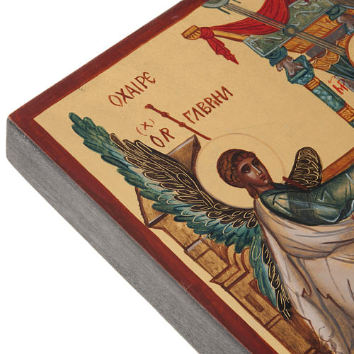 Ícono Ruso Pintado Anunciación 4