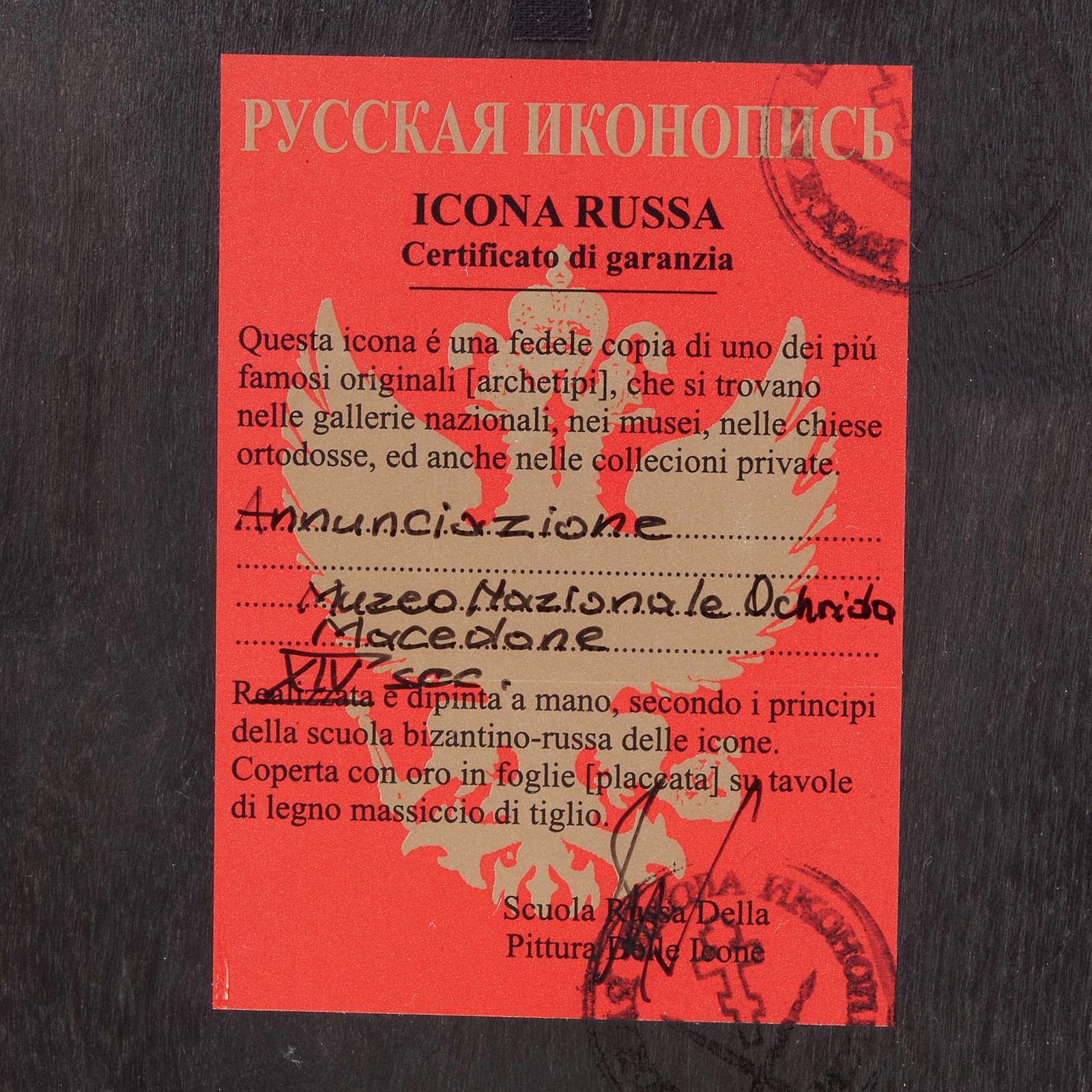 Icône Russe Annonciation peinte 4