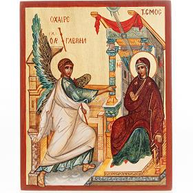 Icona russa dipinta Annunciazione s1