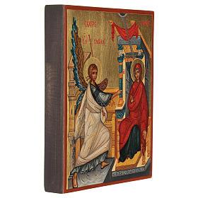 Icona russa dipinta Annunciazione 14x10 cm s3