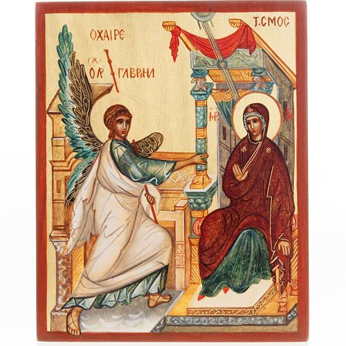 Icona russa dipinta Annunciazione 1