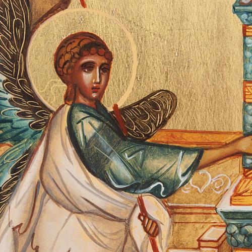 Icona russa dipinta Annunciazione 2