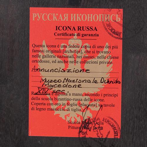 Icona russa dipinta Annunciazione 3