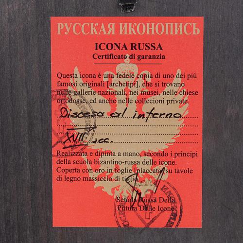 Icona russa dipinta
