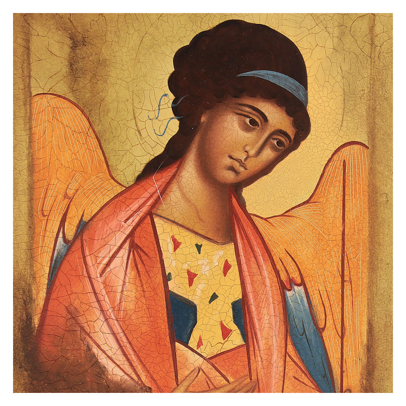 Icône Russe peinte Saint Michel Archange Rublev 14x10 cm 4