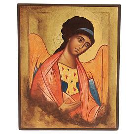 Icône Russe peinte Saint Michel Archange Rublev 14x10 cm s1