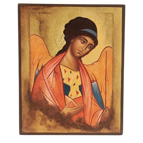 Icône Russe peinte Saint Michel Archange Rublev 14x10 cm 1