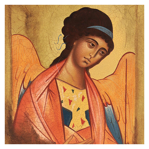 Icône Russe peinte Saint Michel Archange Rublev 14x10 cm 2