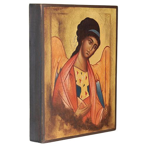 Icône Russe peinte Saint Michel Archange Rublev 14x10 cm 3