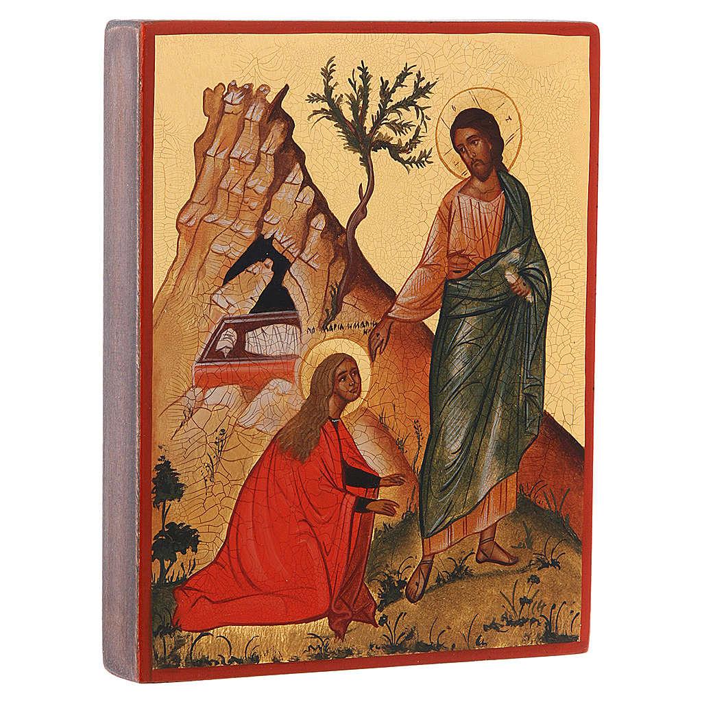 Icône Russe peinte Noli me tangere Jésus et Madelei 4